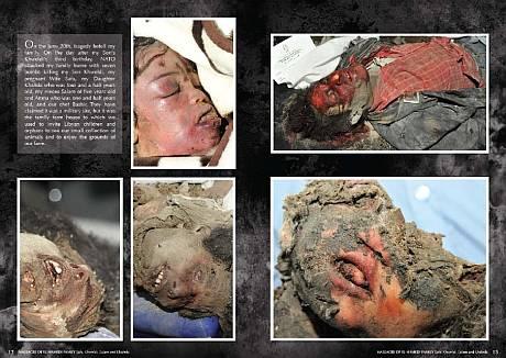 Khaled el-Hamedin perhe Naton pommituksen jälkeen.