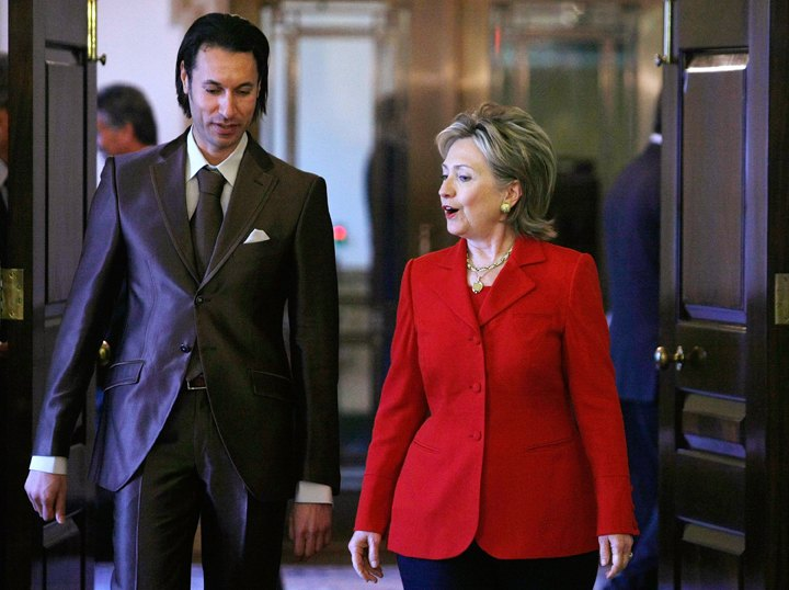 Muatassemin Gaddafi ja Hillary Clinton