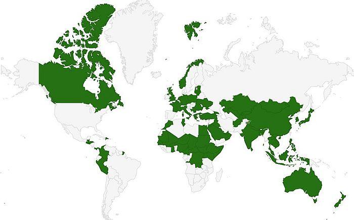 Maat, joissa toimii Yhdysvaltain erikoisjoukkoja.