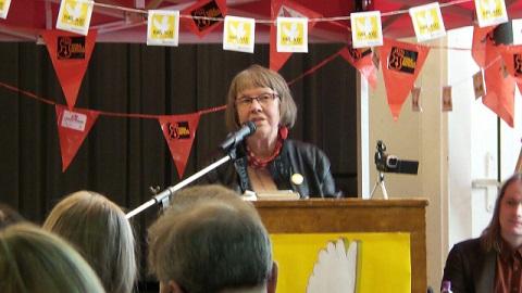 Ruotsin rauhanneuvoston puheenjohtaja Agnes Norberg.