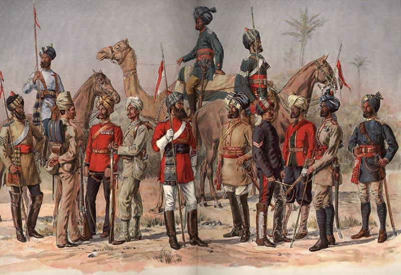 Hajota ja hallitse -strategiaa harjoitettiin mm. Intiassa. Kuva sivulta sajadbangash.wordpress.com
