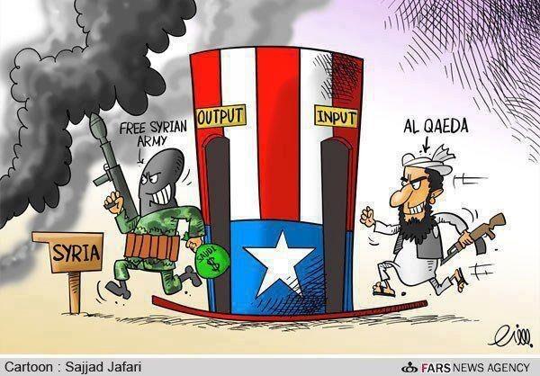 Al-Qaidaan kytkeytyvien taistelijoiden muuttuminen maltilliseksi (tässä: Vapaan Syyrian armeija) oppositioksi.