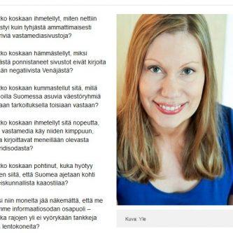 Näyttökuva Sanna Ukkolan kirjoituksen alkuosasta Ylen sivuilla.