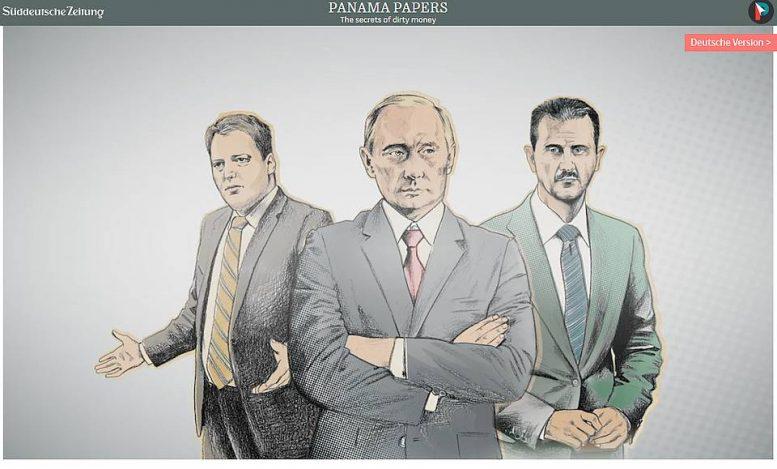 Süddeutsche Zeitungin artikkelikuvaan on laitettu Islannin pääministeri, Venäjän presidentti ja Syyrian presidentti.